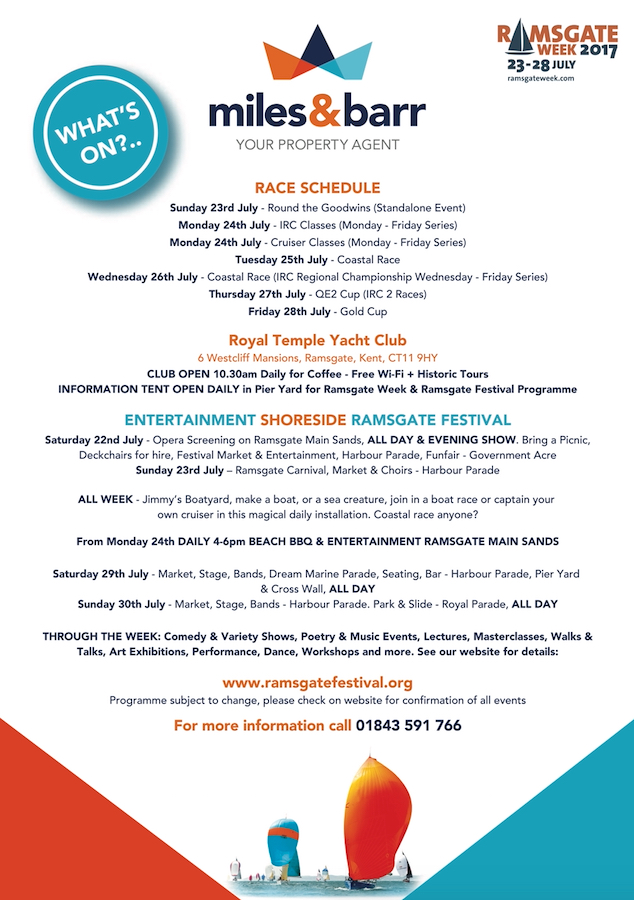 Ramsgate Week Event List