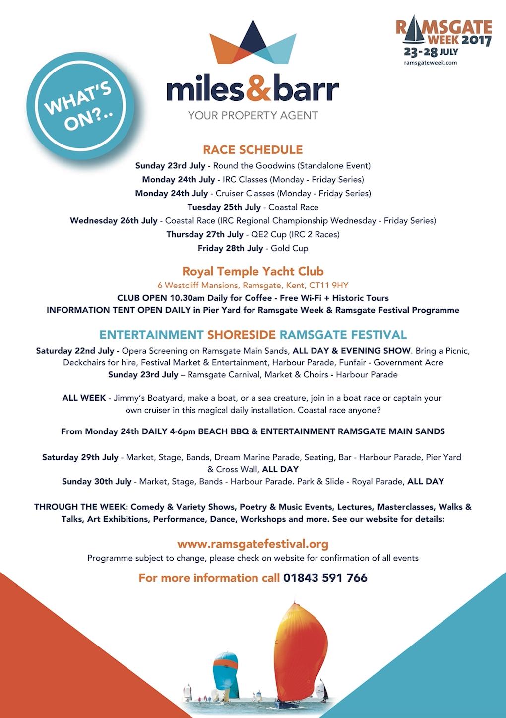 Ramsgate Week lineup