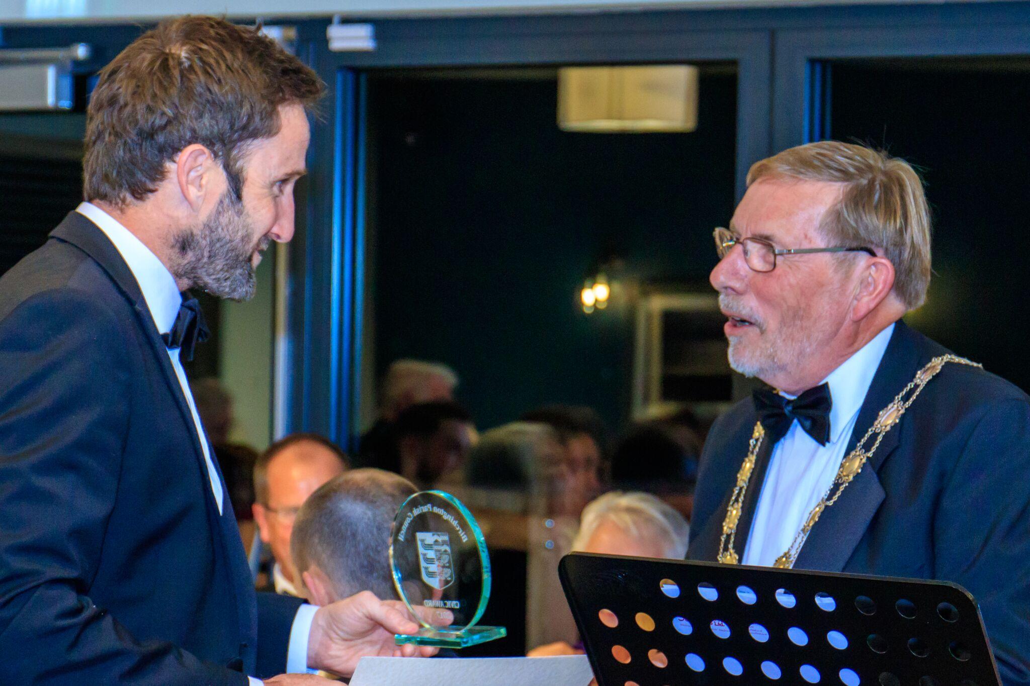Scott Roberts with award